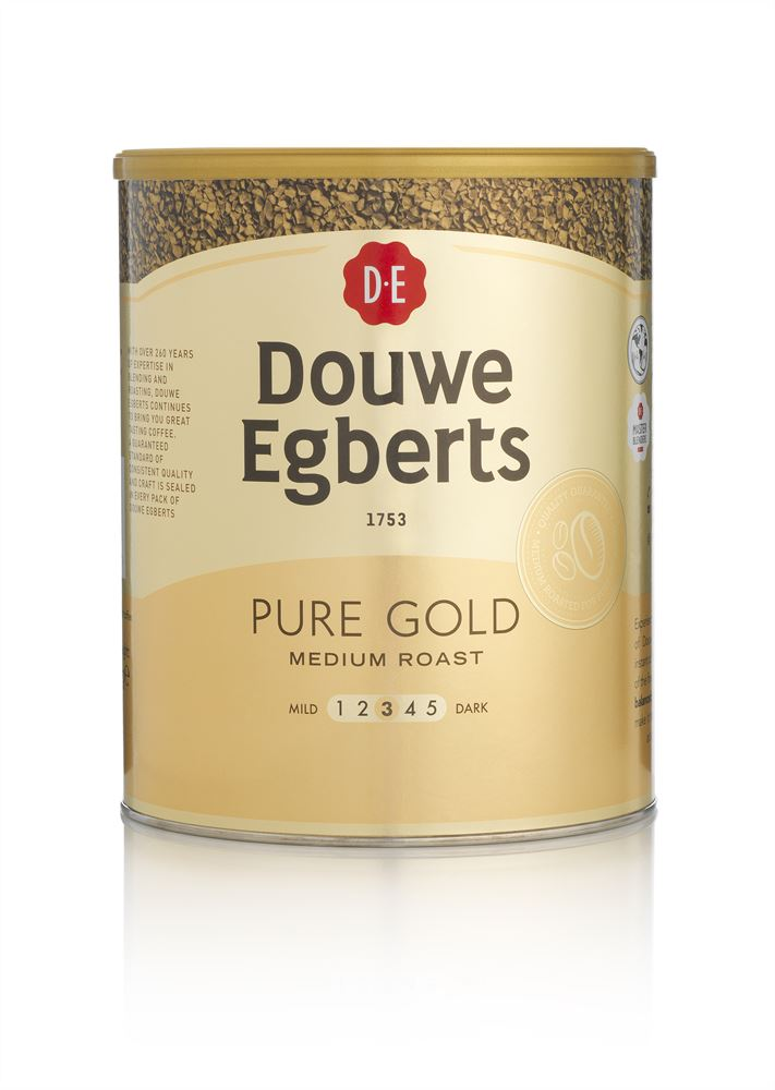 Instant Coffee Douwe Egberts Pure Gold 750g Crown Water