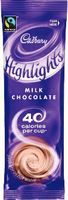 Hot Chocolate drink, Cadbury's highlights, Instant sticks, in-cup